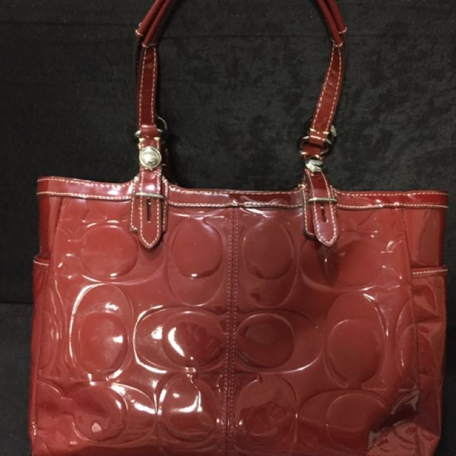 Coach Authentic Red Tote Bag