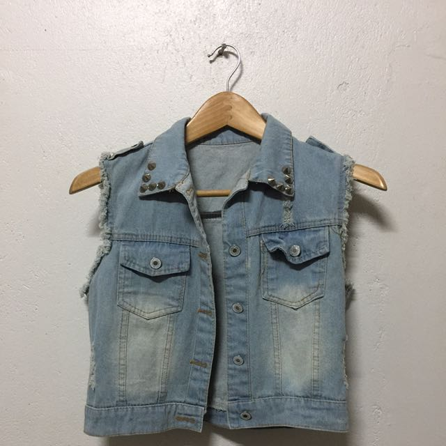Crop Denim Top