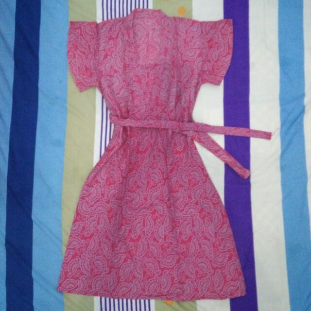 JUAL MURAH: Pink Dress Batik