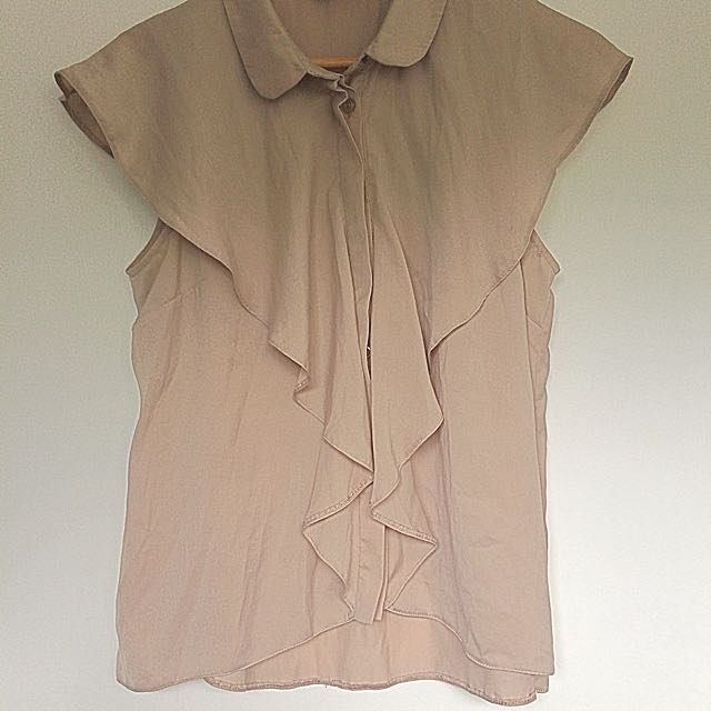 Dusky Pink Sleeveless Blouse Size M