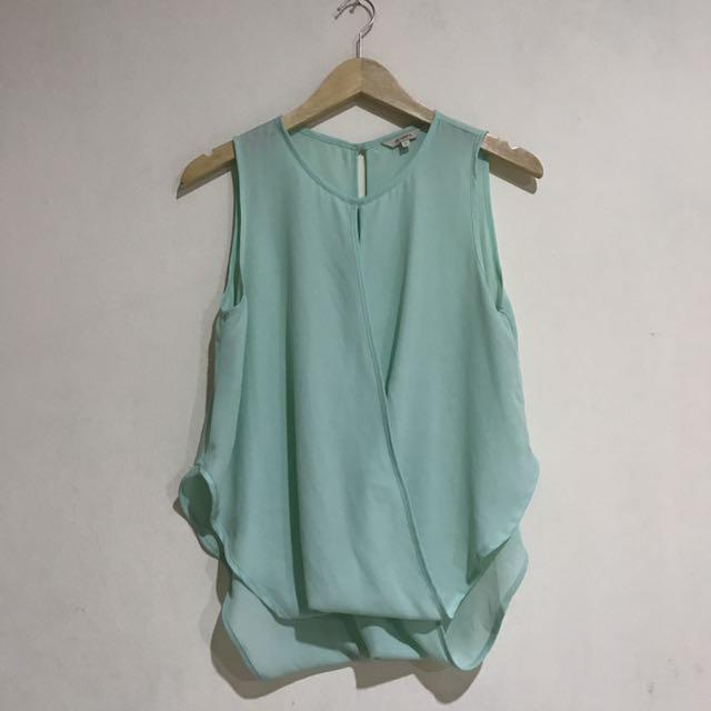 Et Cetera Green Pastel Top Size 6