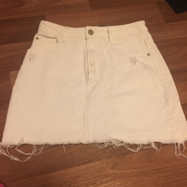 Factorie High Waisted White Skirt