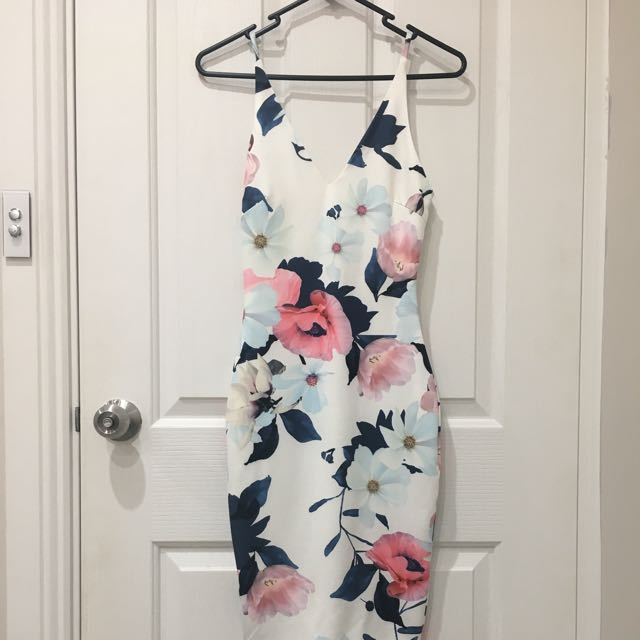 Flower Body Con Dress