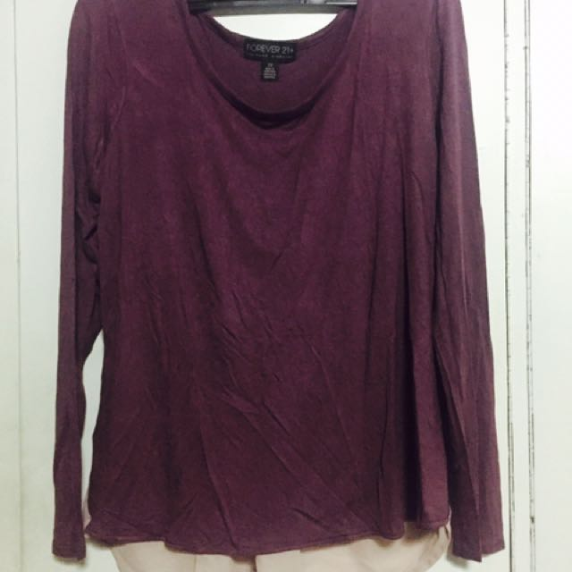 Forever 21 Plus Size Long Sleeve Top