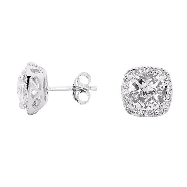 Georgini Astor Cushion Cut Earrings