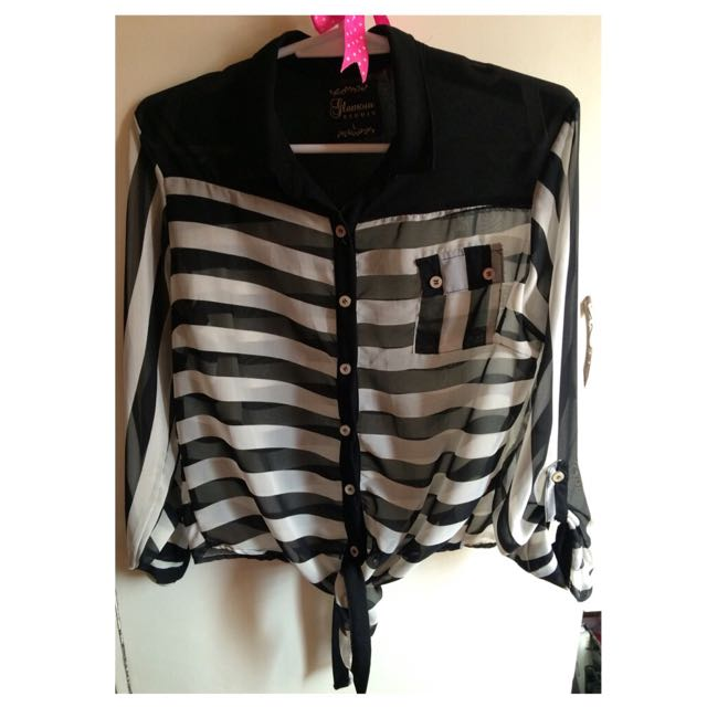 (Glamour) Black&White Stripes Too
