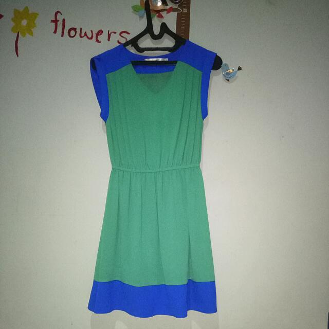 Green Blue Dress