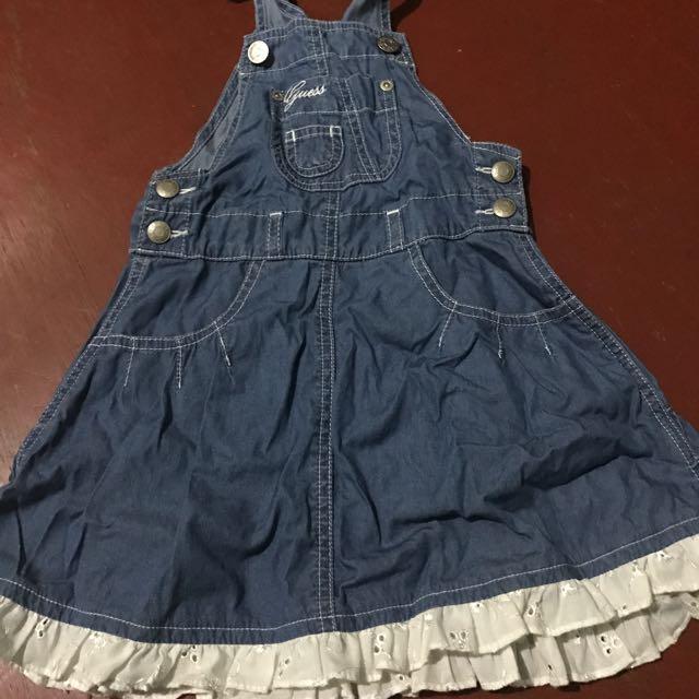 9d4b4e82c Guess Kids denim Jumper Dress, Babies & Kids, Girls' Apparel on ...