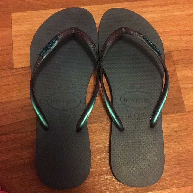 Havaianas Blue And Green Flip-flops