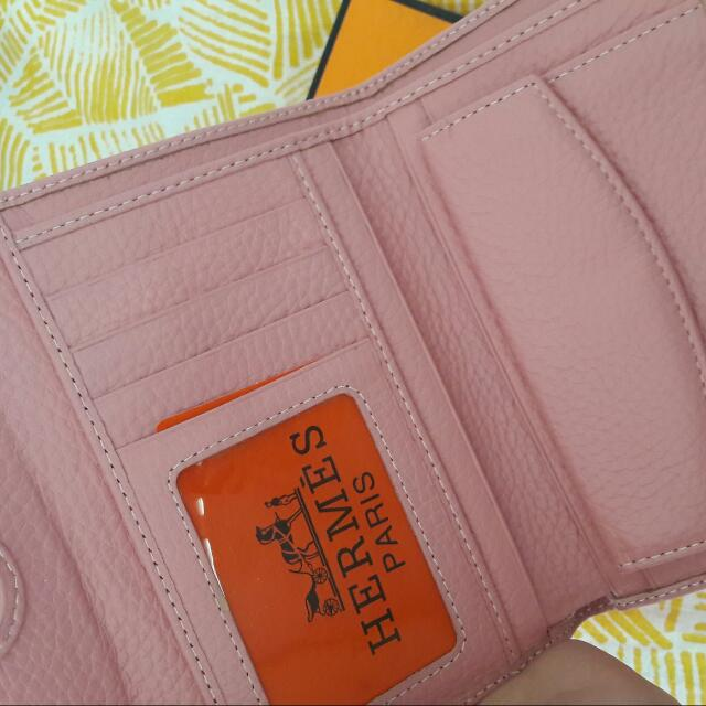 Hermes Pink Leather Look