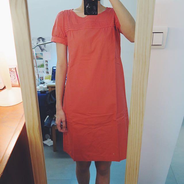 J Crew 珊瑚桃 純棉休閒洋裝