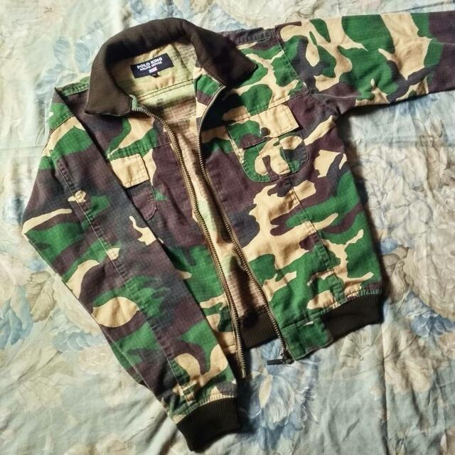 Jaket Polo Army