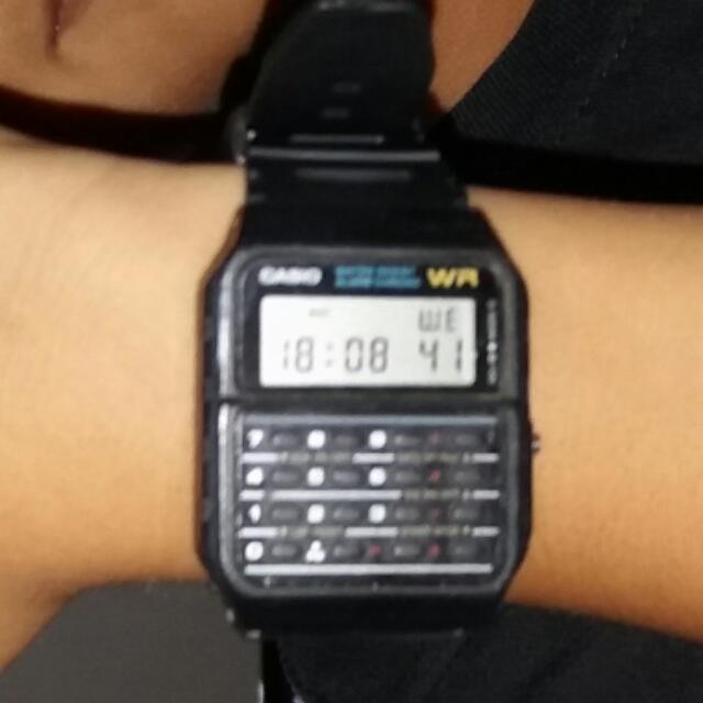 Jam Tangan Casio Calculator Ori