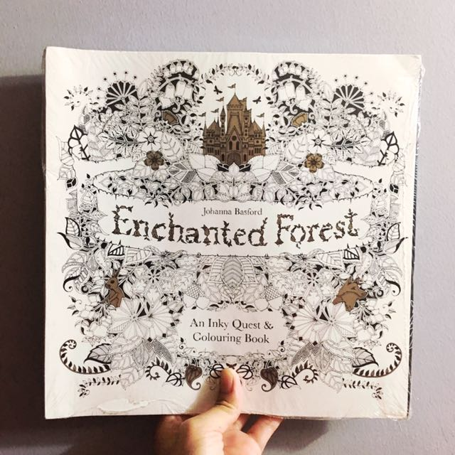 Johanna Basford Enchanted Forest Coloring Book Books On