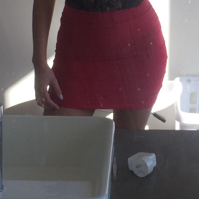 Kookai Red Skirt