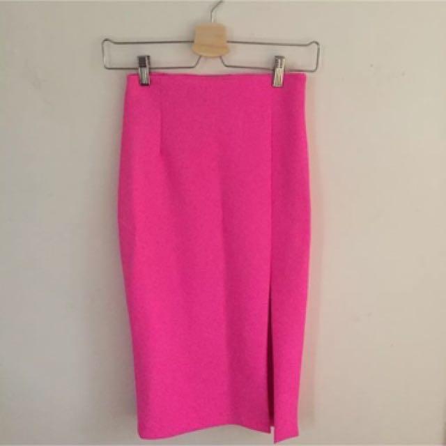 Kookai Skirt Hot Pink 1