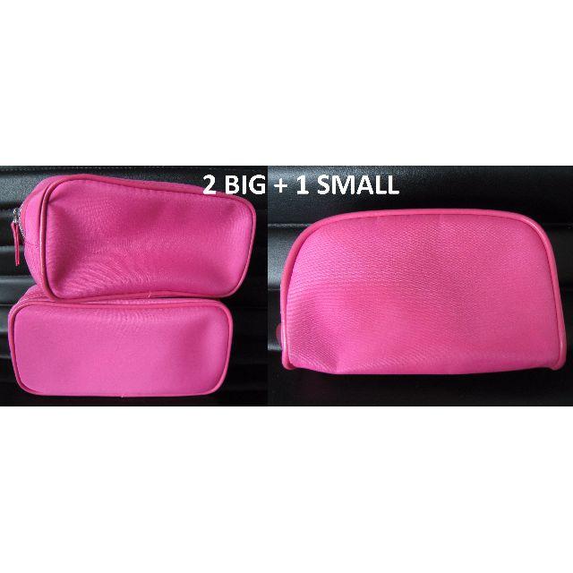 Lancome makeup bags SET OF 2 BIG + 1 SMALL