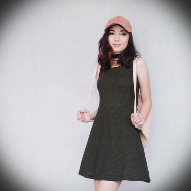 Lazy Dress Army Green
