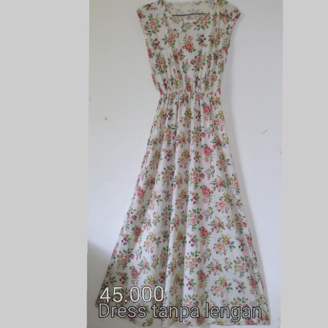 Long Dress Tanpa Lengan
