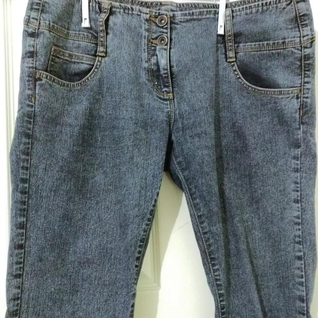 Low Rise 7/8 cuffed skinny jeans