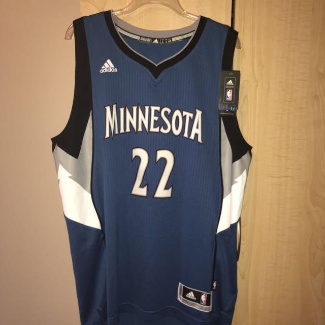 Men's Authentic Adidas Minnesota Jersey - 22 Wiggins