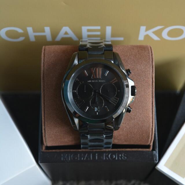 ac95ca8c876a Michael Kors Bradshaw Jet Black Mens Watch (MK5550)