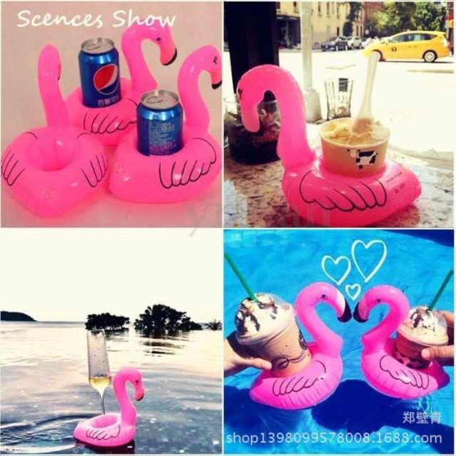Mini Flamingo Pool and Beach Drink Holder Floater