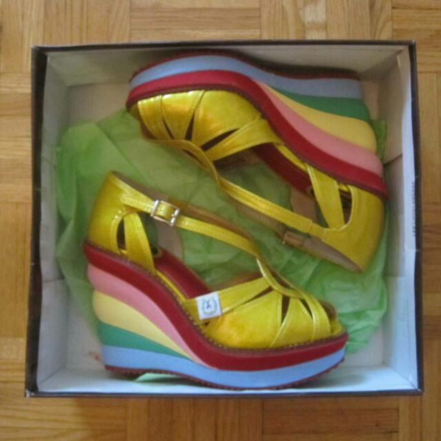 Miss L Fire Gold/Multicolour Shoes (Size 6/36)