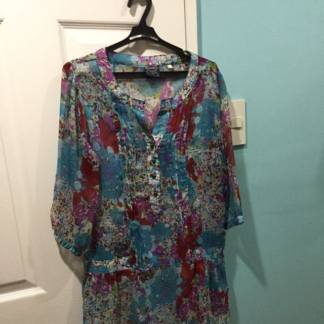 mossimo printed blouse