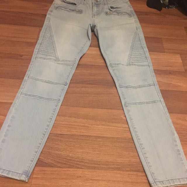 Moto Mid Rise Jeans