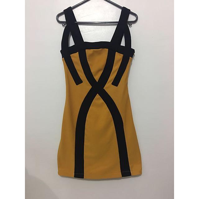 Mustard Party Bodycon Dress