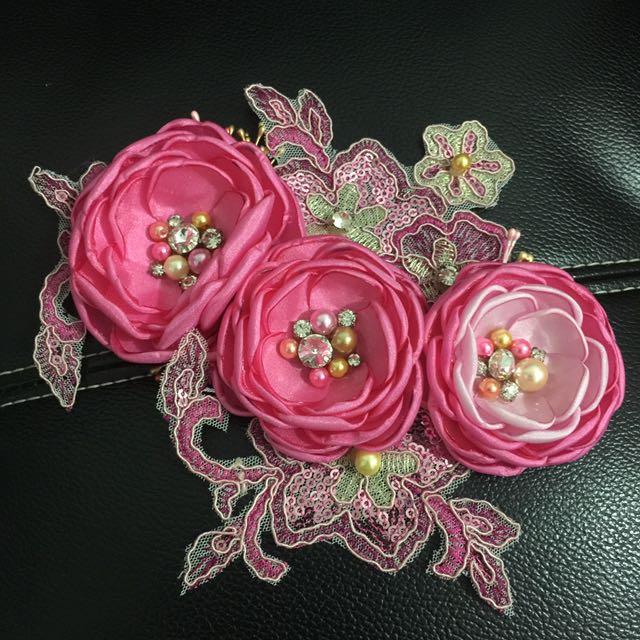 NEW! Handmade Flowers Hairpieces Fuschia