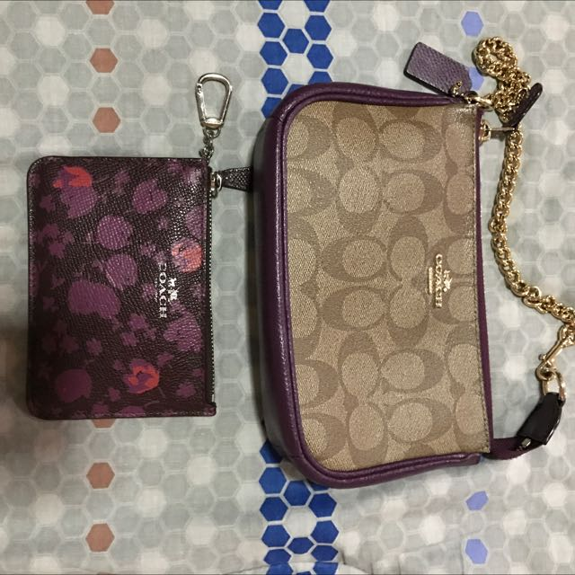 original coach wristlet and coin/key purse