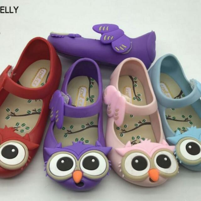 Owl Jelly Shoes