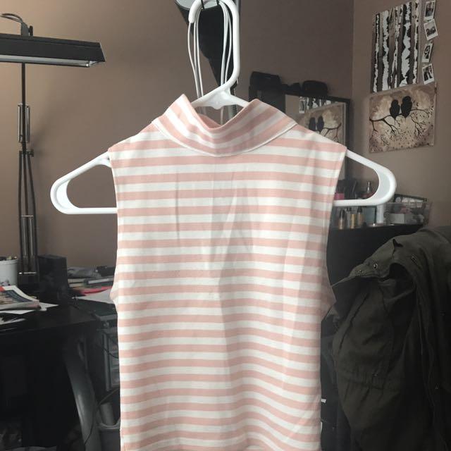 Pink & Cream Halter Top