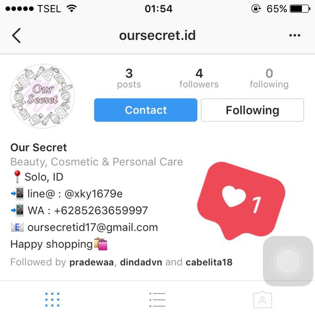 PLEASE KINDLY CHECK & FOLLOW OUR INSTAGRAM ACC @oursecret.id 🛍💖