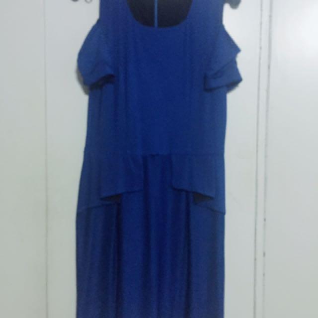 Plus Size Cold Shoulder Peplum Dress