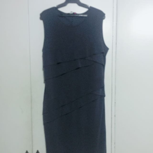 Plus Size Grey Corporate Dress