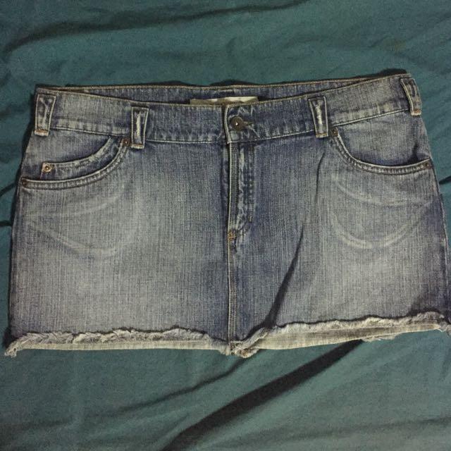 Plus Size Mossimo Denim Mini-skirt