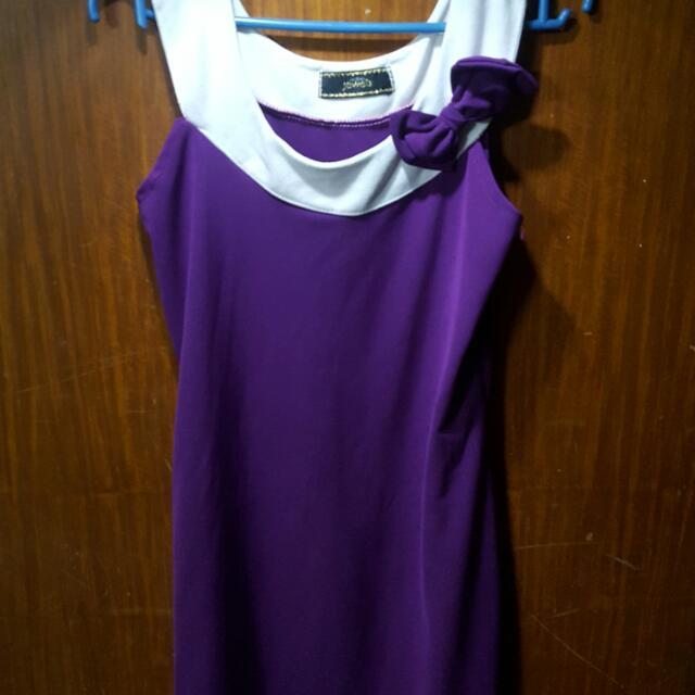 Purple Dress With Ribbon