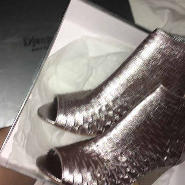 Silver /metallic High Heel