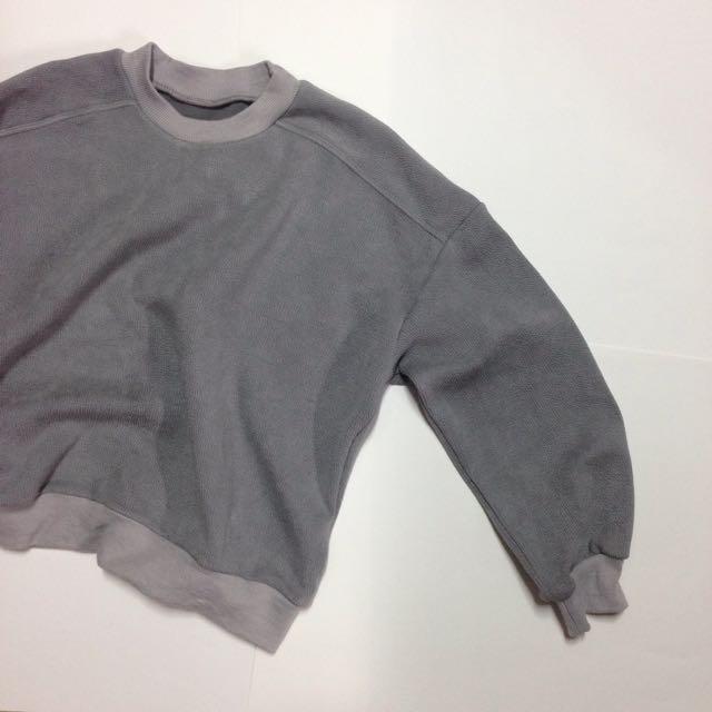 Starmimi灰色壓紋上衣