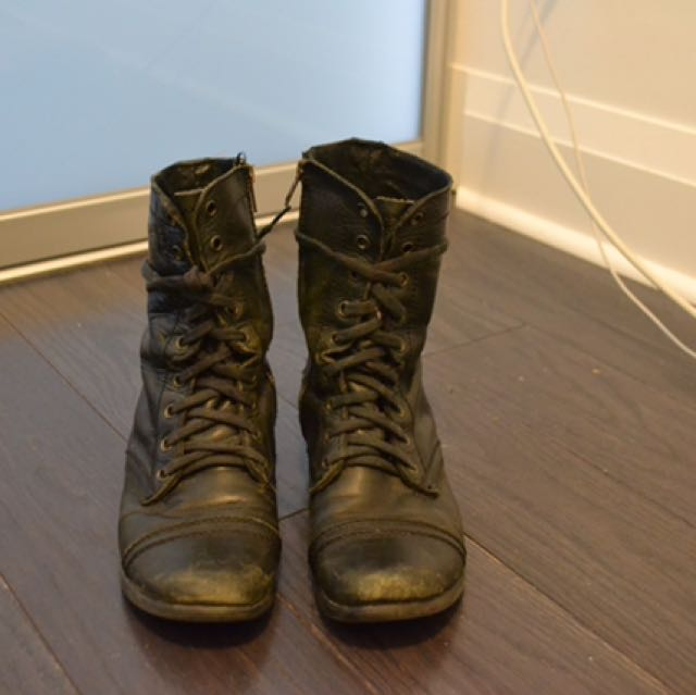 Steve Madden Military Boots