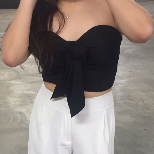 Strapless Crop with Bow