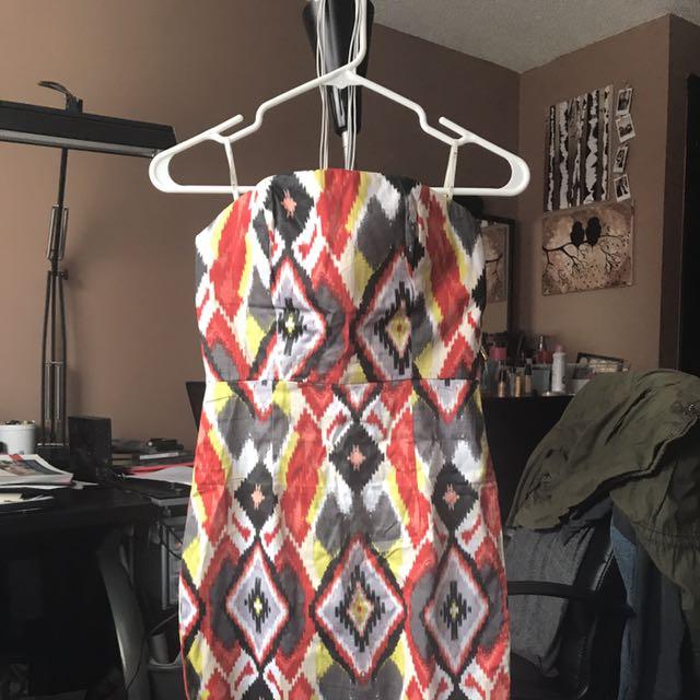 Strapless Warm Colour Dress