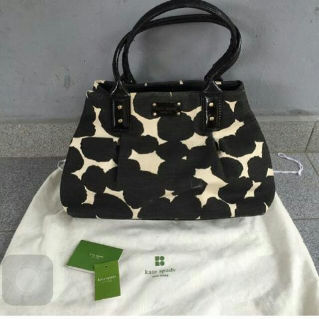 Tas Kate spade hot spot louise 2 black cream FREE ONGKIR