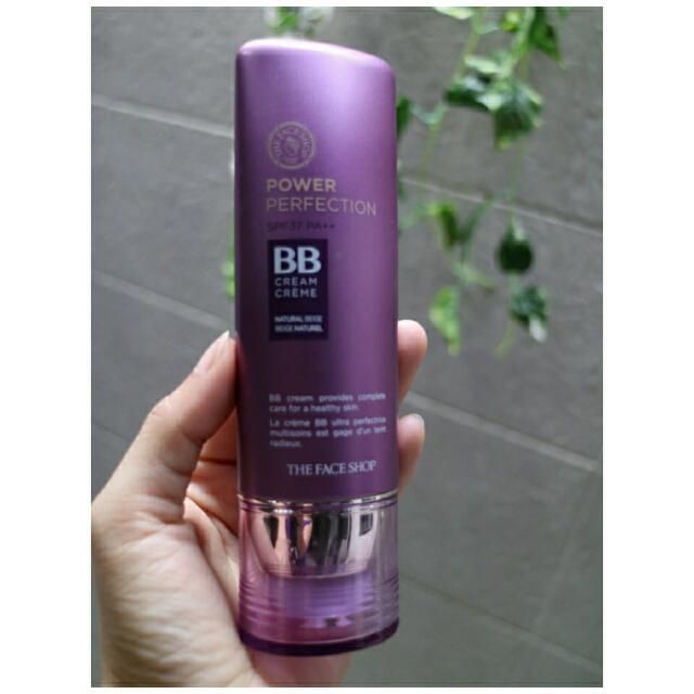 The Face Shop Power Perfection BB Cream SPF 37 PA++  Netto: 40g Shade : V203 Natural Beige Isi Masih 90%  Produk Korea  Exp : 2019 Jual Karena Ganti Merk Lain Ongkir Ditanggung Pembeli FIX PRICE