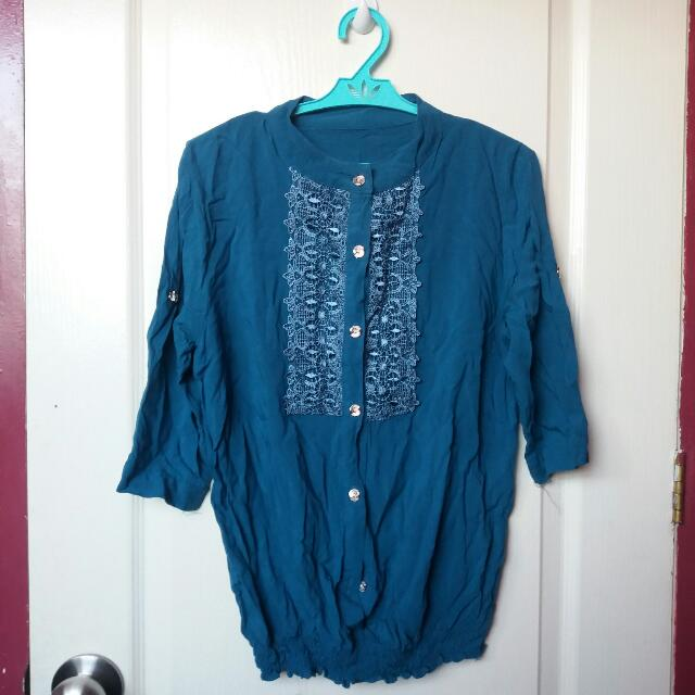 Unbranded 3/4 Sleeve Blouse