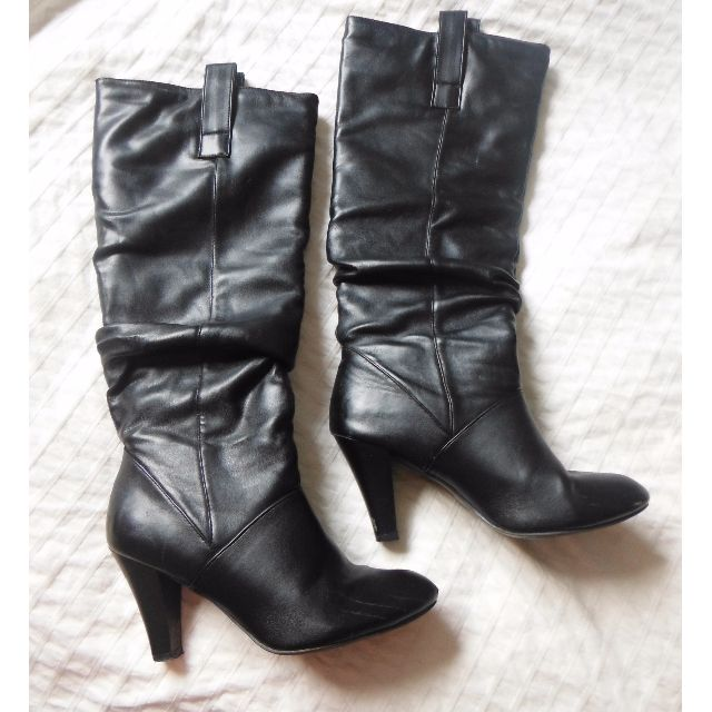 Vegan pleather Black Boots