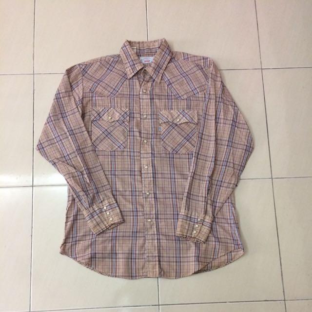 Vintage 1970's Levis Weatern Shirt